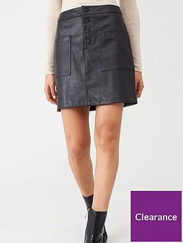 boss-faux-leather-skirt-black