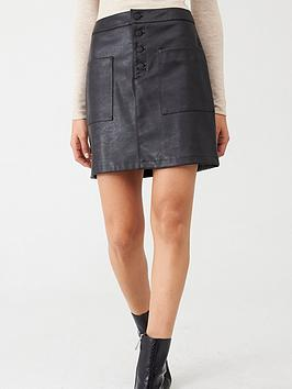 Boss Boss Faux Leather Skirt - Black Picture