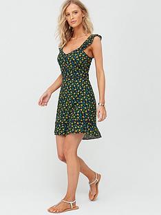 v-by-very-lace-trim-viscose-beach-dress-ditsy-print