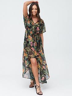 v-by-very-dipped-hem-beach-kimono-tropical-print