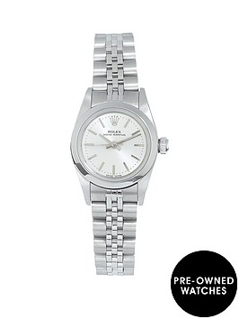 rolex-rolex-pre-owned-ladies-non-date-steel-watch-white-dial-ref-76080
