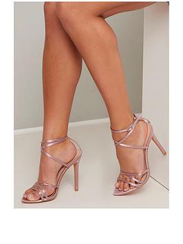 chi chi london Chi Chi London Thalia Strappy Heels - Mink Picture