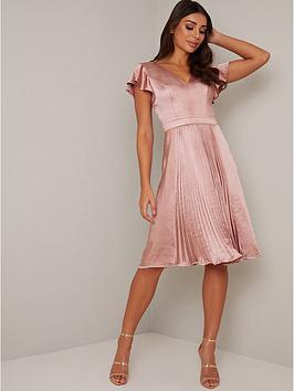 chi chi london Chi Chi London Ruella Satin Dress - Mink Picture