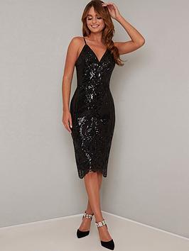 chi chi london Chi Chi London Margot Dress - Black Picture