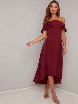 chi chi london Chi Chi London Elma Dress - Burgundy Picture