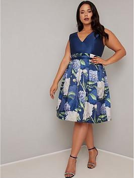Chi Chi London Curve Chi Chi London Curve Llona Dress - Navy Picture