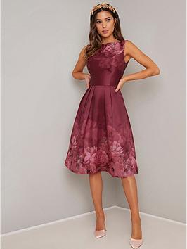 chi chi london Chi Chi London Sady Dress - Burgundy Picture