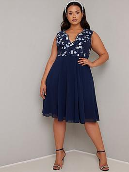 Chi Chi London Curve Chi Chi London Curve Samar Dress - Navy Picture