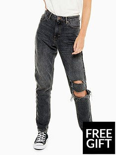 topshop-topshop-34-inch-seoul-rip-mom-jeans-washed-black