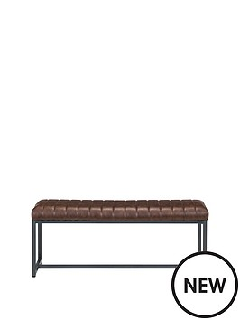 julian-bowen-brooklyn-faux-leather-upholstered-dining-bench