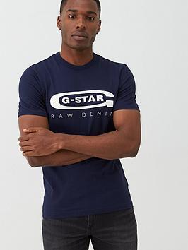 G-Star Raw G-Star Raw Graphic 4 Logo Organic Cotton T-Shirt - Navy Picture