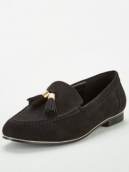 V by Very V By Very Molly Wide Fit Tassel Loafers - Black Picture
