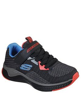 Skechers Skechers Boys Solar Fuse Speed Blitz Trainers - Charcoal Picture