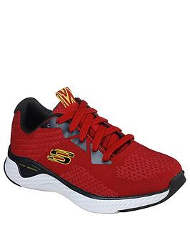 skechers-boys-solar-fuse-trainers-red