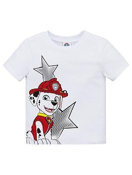 Paw Patrol Paw Patrol Boys Fireman Short Sleeve T-Shirt - White Picture