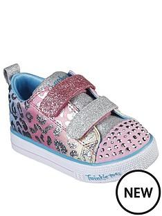 skechers-toddler-girls-shuffle-lite-leopard-cutie-plimsolls-pinkmulti