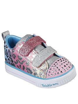Skechers Skechers Toddler Girls Shuffle Lite Leopard Cutie Plimsolls -  ... Picture