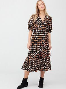 v-by-very-cotton-puff-sleeve-midi-dress-geo-print