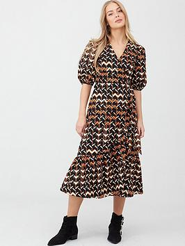 v-by-very-cotton-puff-sleeve-midi-dress-geo-print