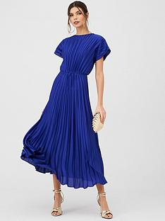 v-by-very-pleated-satin-midaxi-dress-blue