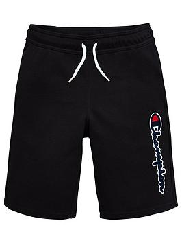 champion-boys-logo-shorts-black