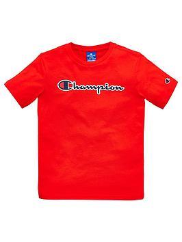 champion-boys-logo-t-shirt-red