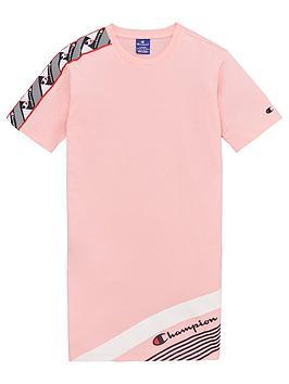 Champion Champion Girls Taped T-Shirt Dress - Pink Picture