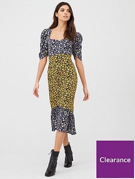 v-by-very-square-neck-midi-dress