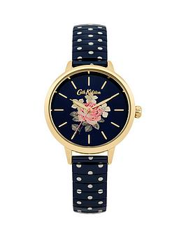 Cath Kidston Cath Kidston Cath Kidston Richmond Rose Blue Dial Blue Polka  ... Picture