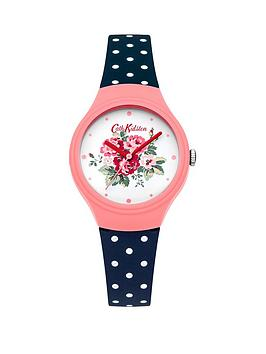 Cath Kidston Cath Kidston Cath Kidston Spray Flowers White Dial Navy Polka  ... Picture