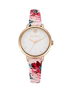 cath-kidston-cath-kidston-paintbox-flowers-white-dial-pink-floral-printed-strap-ladies-watch