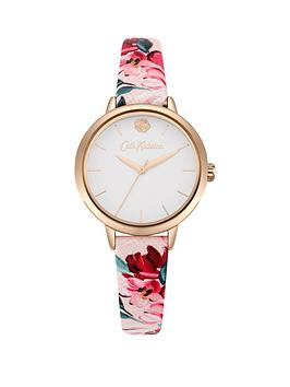 Cath Kidston Cath Kidston Cath Kidston Paintbox Flowers White Dial Pink  ... Picture