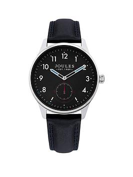 Joules Joules Joules Harrow Navy Dial Black Leather Strap Gents Watch Picture
