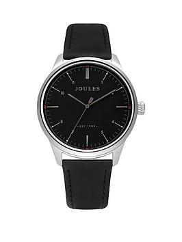 Joules Joules Joules Aldous Black Dial Black Leather Strap Gents Watch Picture