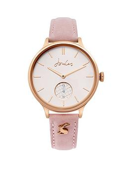 Joules Joules Joules Wilton Rose Gold Dial Pink Leather Strap Ladies Watch Picture
