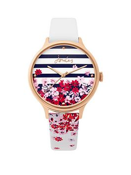 Joules Joules Joules Ambleside Printed Dial White Strap Ladies Watch Picture
