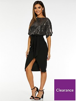 quiz-quiz-x-sam-faiers-sequin-batwing-belted-dress-black