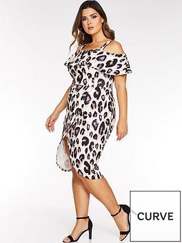 quiz-curve-quiz-curve-leopard-print-cold-shoulder-dress