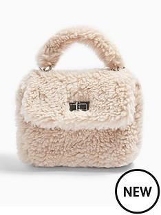 topshop-cosy-borg-grab-bag-cream