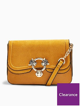 topshop-double-panther-cross-body-bag-ochre