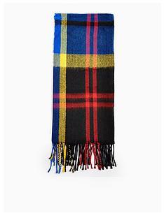 topshop-pop-check-tassel-scarf-blue