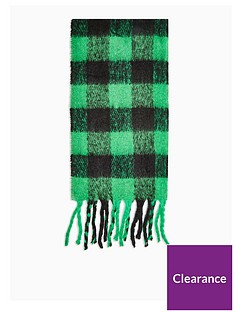 topshop-heavy-punk-check-scarf-green