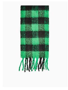 topshop-heavy-punk-check-scarf-green