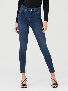 V by Very V By Very Premium 4 Way Stretch Skinny Jeans - Dark Wash Picture