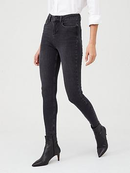 V by Very V By Very Premium 4 Way Stretch Skinny Jean - Washed Black Picture