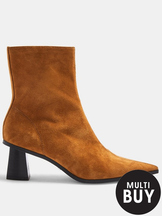 Topshop Maile Point Toe Boots   Tan by Topshop