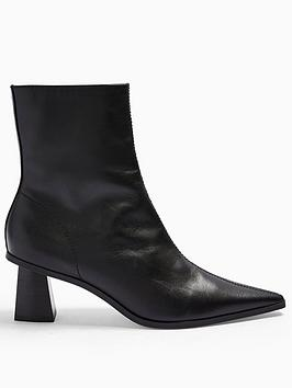 Topshop Topshop Maile Point Toe Boot - Black Picture