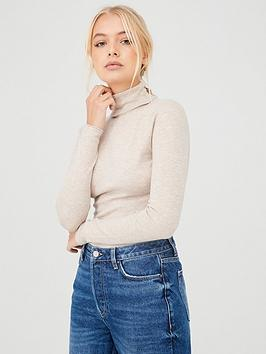 River Island River Island River Island Roll Neck Fitted Jumper-Neutral Picture