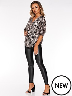 quiz-lightweight-knitted-top-leopard
