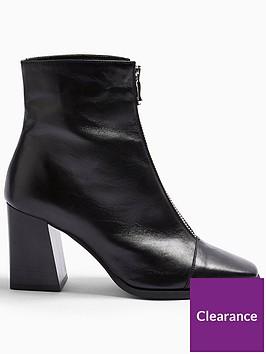 topshop-zip-front-ankle-boots-black